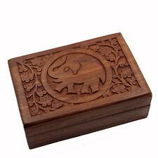 Schmuckschatulle Holzkasten Kästchen aus Holz Schatulle Schmuckkasten Elefant N
