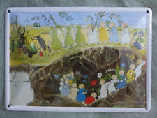 Blechschild Wurzelkind Türschild Bechpostkarte Klingelschild Blumenkind Waldorf