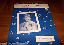 """""""IVORY TOWER"""" SHEET MUSIC -RECORDED BY CATHY CARR - VINTAGE 1955-#2 ON POP CHART"""
