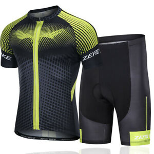 ZEROBIKE Cycling Men's Short Sleeve Bike Cycle Biking Jersey Top Set New