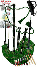 Bagpipes Beginner Irish Tartan with book Learn to play bagpipe Ready to play