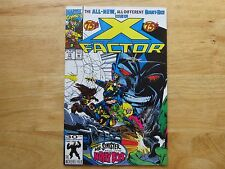1991 VINTAGE MARVEL COMICS X-FACTOR # 75, 48 PAGES SIGNED BY LARRY STROMAN, COA