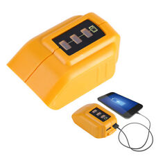 USB Mobile Phones Battery Charger Adapter For Dewalt 14.4V 18V 20V Slide DCB090