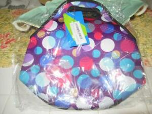 JKC COCO BAGS Insulated Neoprene Lunch Bag Colorful Bubble