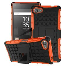 Sony Xperia Z5 Compact Outdoor Case TPU Hybrid Skidproof Kickstand Hülle Orange