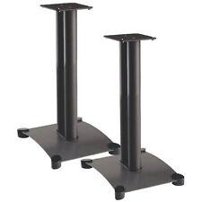 """Sanus SF22B Foundations 22"""" Steel Speaker Stand Pair Black"""