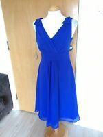 Ladies DEBUT Dress Size 10 Blue Chiffon Party Evening Wedding Smart