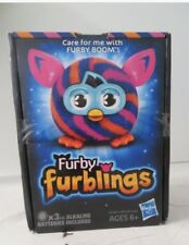 Furby Furblings Hasbro Orange And Blue Diagonal Stripes IOB