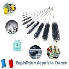 10 Pcs Set Brosse Goupillon Nettoyage Tube pour Bouteille Bouilloire Théière etc