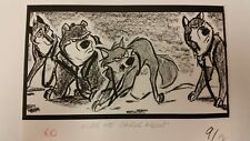 Balto Animated Film - Storyboard -Balto/Sled Dogs  -USSBA.009.393