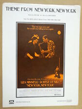 song sheet THEM FROM NEW YORK NEW YORK 1977