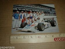 Mike Mosley 1974 Lodestar USAC vintage Indy 500 auto racing postcard handout B