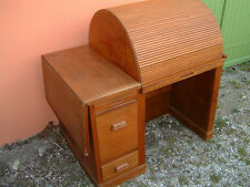 bureau chene a cylindre debut XXeme siecle desk  art deco