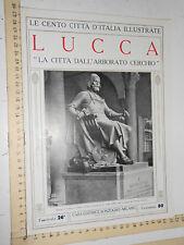 CENTO CITTA D'ITALIA ILLUSTRATE - SONZOGNO - LUCCA