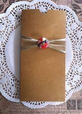 10 X DL KRAFT Wedding Pocket INVITATIONS DIY