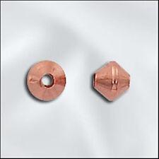 4.8mm Genuine Shiny Copper Double Cone Bicone Beads (100)