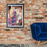 Gustav Klimt The Maiden Wall Art Poster Print