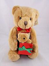 """Russ Christofur Bear Plush Caress Soft Pets Sits 11"""" Stuffed Animal"""
