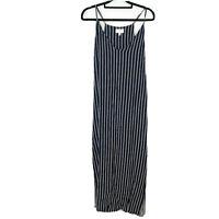 Witchery Women's Size 12 Long Stripe Maxi Dress Navy White