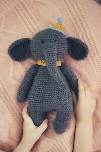 elephant crochet toy / elephant amigurumi / elephant toy / elephant handmade