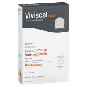 Viviscal Man Hair Supplement 60 Tablets Promotes Hair Growth Men Hair Loss