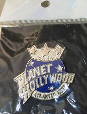 Planet Hollywood ATLANTIC CITY 2000 Silver & Blue PH GLOBE Logo PIN Restaurant