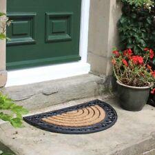 Doormat Karina Half Moon Rubber/Coir Tuffscrape 45cm x 75cm