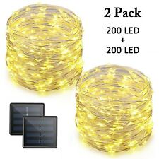 Vmanoo LED String Lights 72 Feet 200 LED Solar Powered Copper Wire Starry Rop...