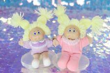 "Vintage Cabbage Patch Mini Dolls 5"" Soft Body Blonde Yarn Hair Pajamas BB002"