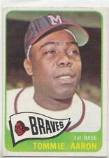 New listing 1965 Topps Baseball card # 567 Milwaukee Braves Tommie Aaron