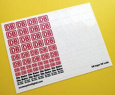 DB Die Bahn Deutsch Federal Eisenbahnen Logo '00' Spur Maßstab Sticker Aufkleber