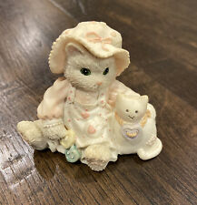 """1994 Calico Kittens By Enesco """"Buttoned Up With love� Cat Figurine"""