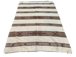 Antique Moroccan Kilim, Decorative Vintage Kilim, Wool Kilim, Area Rug