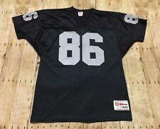 Oakland Raiders Jersey VTG 90s Raghib Rocket Ismail Large Wilson NFL Black  LA 13412ff5d