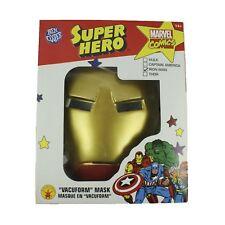 Iron Man Ben Cooper Mask Marvel Fancy Dress Up Halloween Costume Accessory