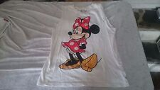 Disney Store Minnie Mouse Front Back Sleeveless shirt SMALL S Ships in 24 hours!