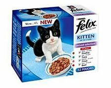 Felix Kitten Pch MPk CIJ Tuna Trout Poultry & Beef 12Pk 100g - 10344