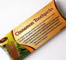 Cinnamon Toothpicks 40pcs100%Natural An Unique product from Sri Lanka /UK seller