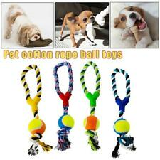 2Pcs Large Strong Pet Dog Pull Chew Rope Ball Toy Tug Fetch Fun Retrieve 40cm