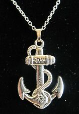 "NEW 18"" 925 Sterling Silver Chain Nautical Anchor Pendant Necklace Sailor Nice!!"