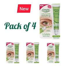 4 PACK  x  Simple Kind to Eyes Revitalising Eye Roll-On 15ml (Pack of 4)