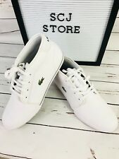 New Men's Lacoste Ampthill SIZE 9.5   LCR3 Leather Sneaker 7-31SPM009821G White.