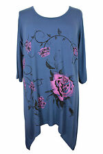 3/4 Sleeve Floral Semi Fitted Tops & Shirts for Women