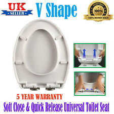 V Shape Soft Close Quick Release Metal Hinges Toilet Seat Bath WC Durable Loo UK