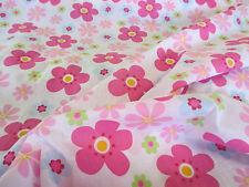 "avorio e rosa "" Hippy fiori "" stampa floreale policotone tessuto"