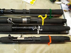 Spinning Fishing Rods Lot Of 4 Shimano , Abu Garcia And Zebco