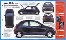 Ford KA UK 1996-1998 Spec Sheet Brochure Poster IMP Hot Cars Group 1 #24