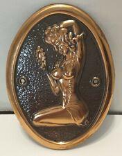 Nude Woman Mini Oval Plaque Wall Decor