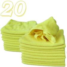 20 x Micro Fibre Cloths Large Super Soft Washable Yellow Duster Car Home Work