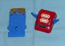 vintage Mego Micronauts MICROTRON PARTS LOT #43 head + battery cover